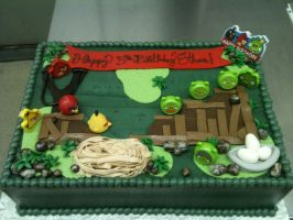 Angry Birds Buttercream Cake by Spudnuts