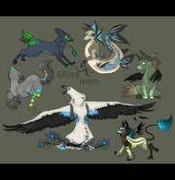 old gryphon characters by griffsnuff