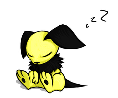 Another Sleeping Pichu by hlavco