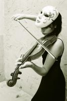 masked Violin by pettles