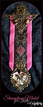 Steampunk Steamstress Medal for Katie by Cyanida