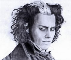 Sweeney Todd portrait by LaRhette0