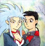 Ryoko and Tenchi by rocketdave