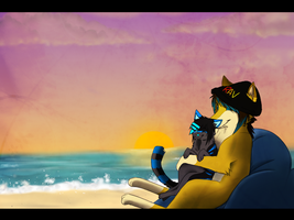 Lover's Sunset by Terryburr