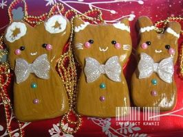 Animal Gingerbread Necklace by ImperfectKawaii