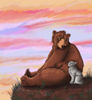 Bear and PussyCat by DeerHead