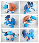 Blastoise - Swampert Papercraft by thepapersmith