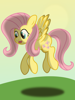 Fluttershy, shadowing practice by NihiTheBrony
