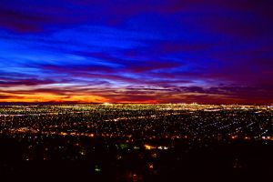 Sunset over adelaide by thefrankenator