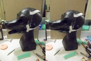 Gravity fursuit resin base WIP by AlieTheKitsune