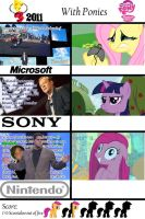 E3 2011 With ponies by alfredofroylan2
