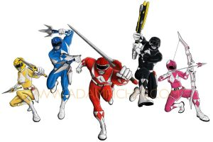 Mighty Morphin Power Rangers 1 by AdamRiches