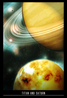 Titan and Saturn by Bobbyperux
