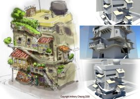 3D Bug City building by anthonysarts