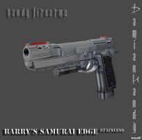Barry Burton's Samurai Edge Stainless by DamianHandy