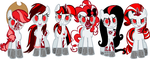 Death Pony Adoptables 2 - R0B0 P0NI3Z by GwenCupcakes