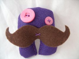 Mustache Monster Plush by Muffinseatfood
