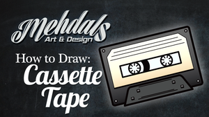 How to Draw a Cassette Tape by Mehdals