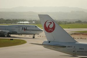 Japan Airlines Guam Airport by magalahe