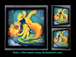 Commission: Spitfire Shadowbox by The-Paper-Pony