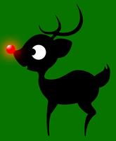 Reindeer Shillouette by Cymae