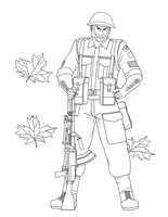 Largo Potter, 4th CAN Division 1944 (lineart) by Kira-Tsubasafan