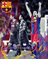 Xavi's 549th Game by HGM-Barca