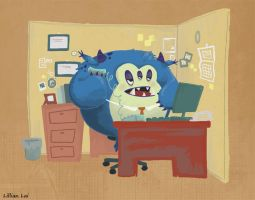 Monster Cubicle Work. by LillianLai