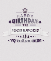 TYPOGRAPHY - HPBD My Kookie by Yoo-YuHee