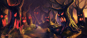 The Haunted Forest by jingsketch