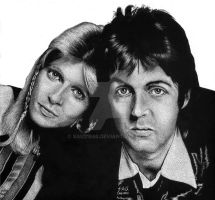 Sir Paul and Lady Linda 1974 by SAU21866