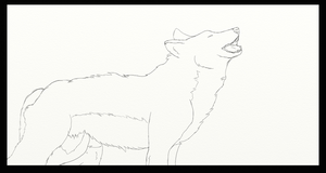 Wolf lineart by nightstrikers