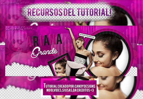 Recursos Del Tutorial PurpleDark. by TutosByCandyDesigns
