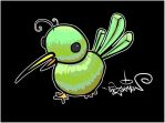 Green Bird :::Black by TheZakMan