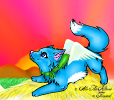 Happy Wolf Cat Fairy Tail by Kalhyra