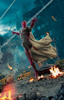 Vision Poster - Textless - Avengers AOU by Grimeministar