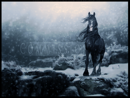 COMMISSION: I'll Be Home For Christmas by BlueHorseStudios