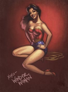 Pinup Wonder Woman by JessiBeans