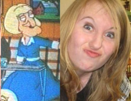 See a resemblence??? by QueenoftheSporks