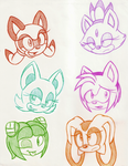 Sonic Gals by Star-Sketcher-MLP