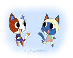 Animal Crossing: My favorite cats by Funny-Finny