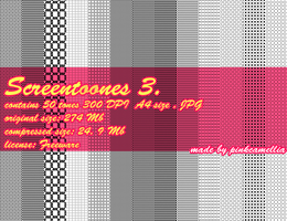 Screetones Pack 3 by pinkcamellia