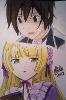Kujo and Victorique by Leidosapiens