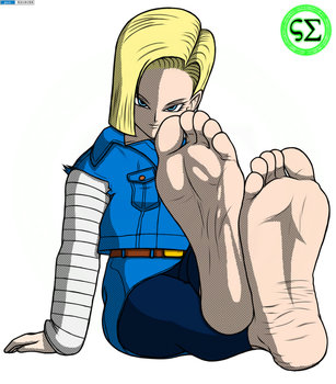 Android 18  Gift  By Screampunkarts Colored by 12Beast1212