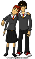 James and Lily Potter, Age 16 by nanietta