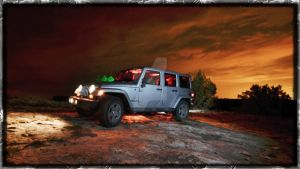 Light Painted Jeep by scottsmith17