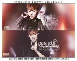 Pack Quotes Xiumin - MyEverythings. by GenieDesigner