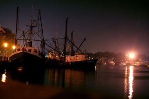 The Hyannis Docks at Night by jeffreyverity