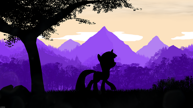 Among the mountains by BlackFalcon8