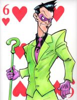 The Riddler 6 of Hearts by PatrickFinch